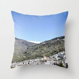Pueblos Blancos with Sierra Nevada Throw Pillow