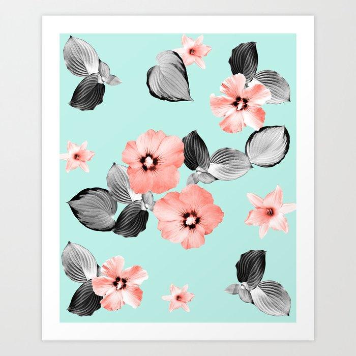 Living Coral Floral Dream #3 #flower #pattern #decor #art #society6 Art  Print by anitabellajantzart