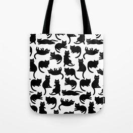 Black Cat Poses Tote Bag