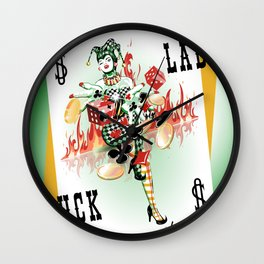 Lady Luck Wall Clock