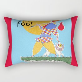 The Fool Tarot Card Rectangular Pillow