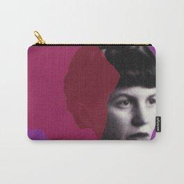 Sylvia Plath Portrait - purple pink Carry-All Pouch