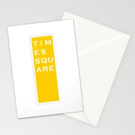 Times Square - NYC - Yellow Stationery Cards