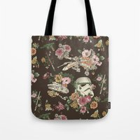 geek Tote Bags featuring Botanic Wars by Josh Ln
