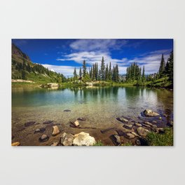 Mountain Lake in the Mt Rainier National Park Canvas Print
