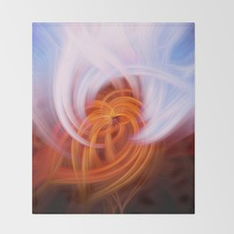 Heaven And Hell Light Fibers Throw Blanket