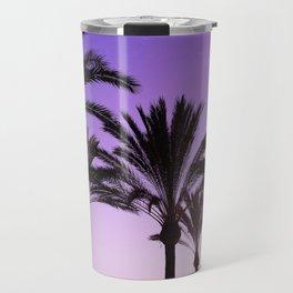 Purple Californian Vibes Palm tree beach photography Travel Mug
