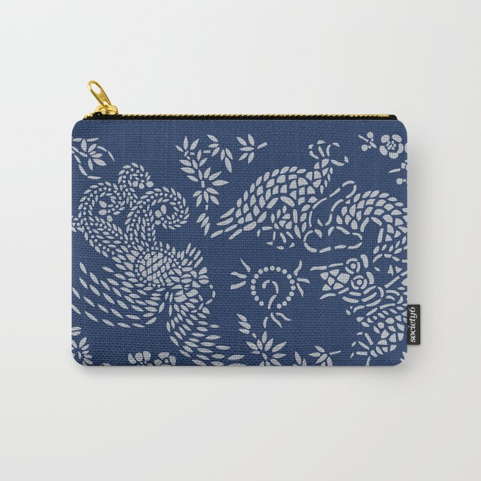 Chinese Blue IV Carry-All Pouch