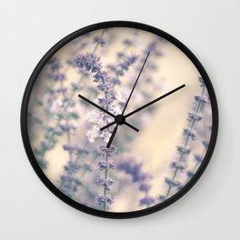 Lavender blossoms Wall Clock