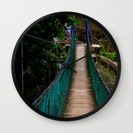 Swinging Bridge -Guam Wall Clock