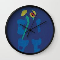 megaman Wall Clocks featuring Megaman EXE by JHTY