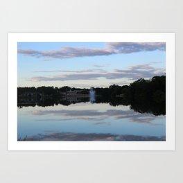 Evening Fountain Photo Art Print