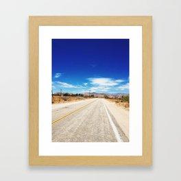 Long Desert Road Framed Art Print