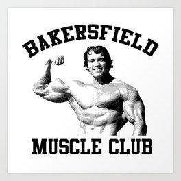 Muscle club Art Print