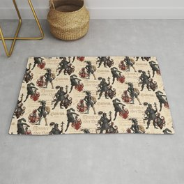 Medieval Knights in Shining Armor Rug