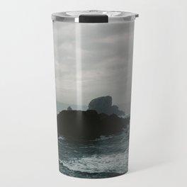 Crashing Waves on Cannon Beach Oregon Travel Mug