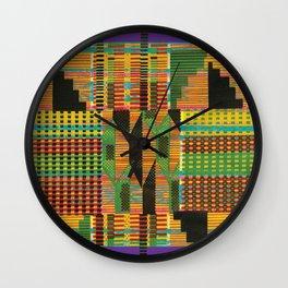 Kente Stripes Wall Clock