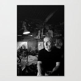 Pablo in His Workshop Canvas Print