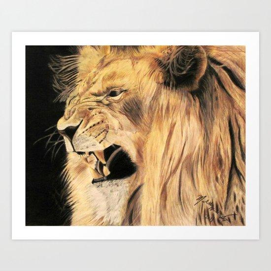 A Lion's Voice Art Print