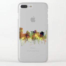 Arlington, Texas Skyline - SG - Safari Buff Clear iPhone Case