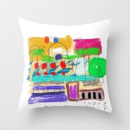 I Love Nice Throw Pillow