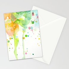 Rainbow Watercolor Pattern Texture Stationery Cards