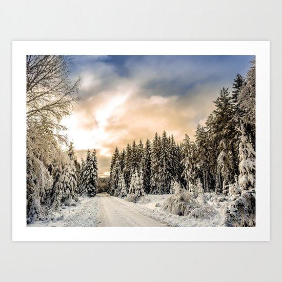 Winter Road #photography #society6 Art Print