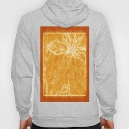 Mottled Red Poinsettia 1 Ephemeral Outlined Orange Hoody