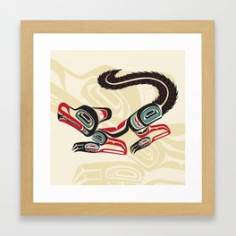 Salish Fox Framed Art Print