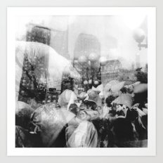 Union Square Pillow Fight Art Print