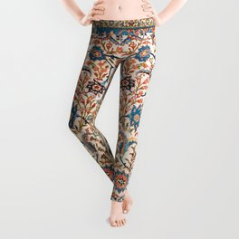 Isfahan Antique Central Persian Carpet Print Leggings