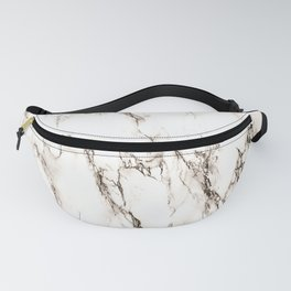 Brown Veined Marble Fanny Pack