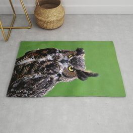 Owl green Rug