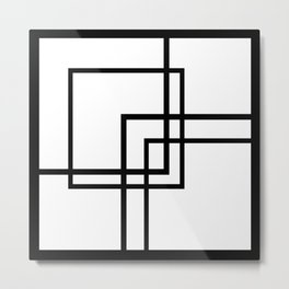 Abstract geometric pattern 33 Metal Print