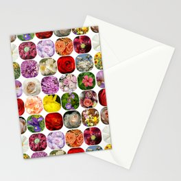 A Collage Of Bright Flowers Stationery Cards