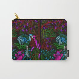 Asian Bamboo Garden in Black Velvet Watercolor Carry-All Pouch