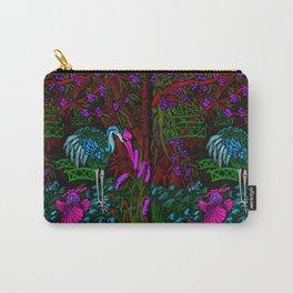 Asian Bamboo Garden in Black Velvet Watercolor Carry-All Pouch