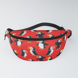 Puffin Red Pattern Fanny Pack