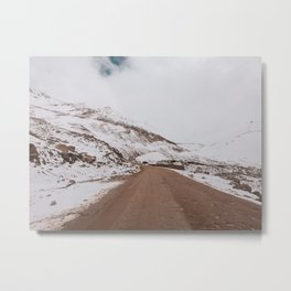 Amazing road and Snow capped mountains in leh-ladakh Metal Print
