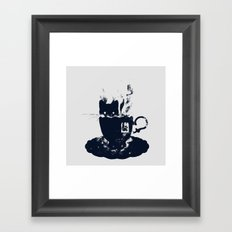 Having Tea With my Lovely Cat Framed Art Print