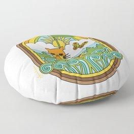 The Owl & The Pussycat Floor Pillow