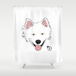 American Eskimo Face Shower Curtain