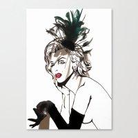 monroe Canvas Prints featuring Monroe  by AnneSinclair11