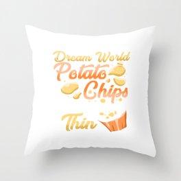 In My Dream World Potato Chips Throw Pillow