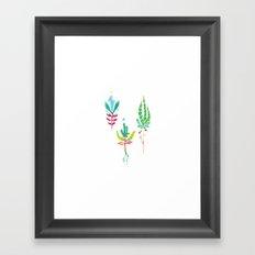 Park Future Flora Framed Art Print