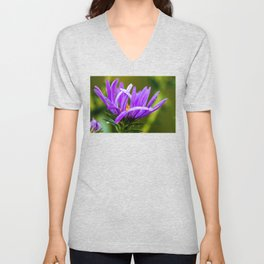 purple and green and dewy Unisex V-Neck