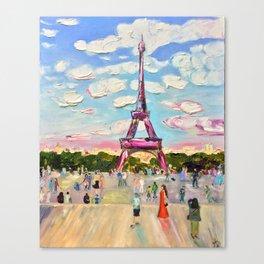 Paris, Eiffel Tower Canvas Print