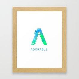 Adorable Big Letter 2 Framed Art Print