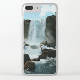 Öxarárfoss Clear iPhone Case