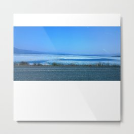 Frozen Yukon Lake (Kluane) Metal Print